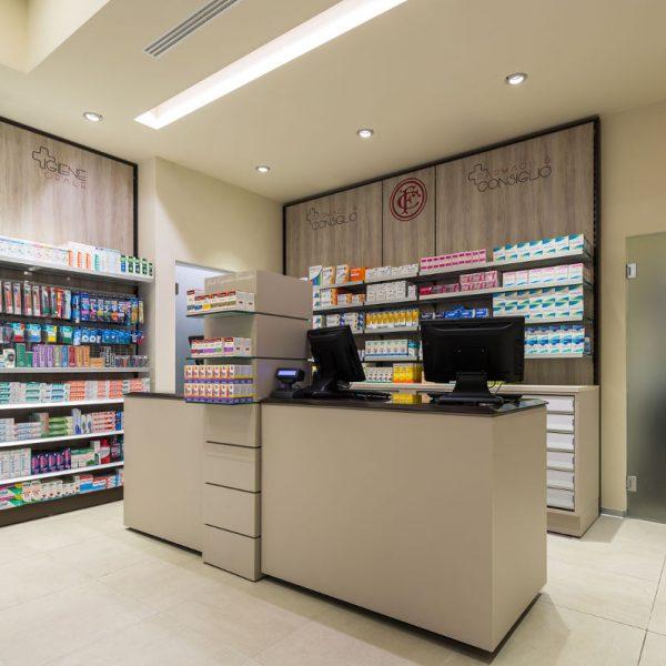 Farmacia Manzoni di Milano - banco vendita