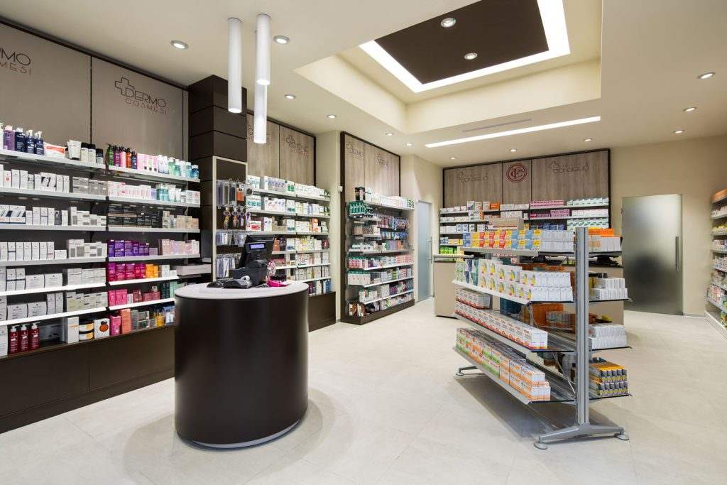 Farmacia Manzoni di Milano - area vendita