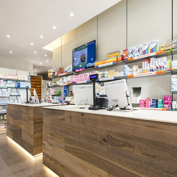 Farmacia del Sole, Bologna - vaschette di uscita farmaco