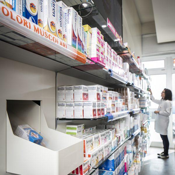Farmacia del Sole, Bologna - vaschette di uscita